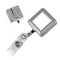 Metal Badge Reel Square