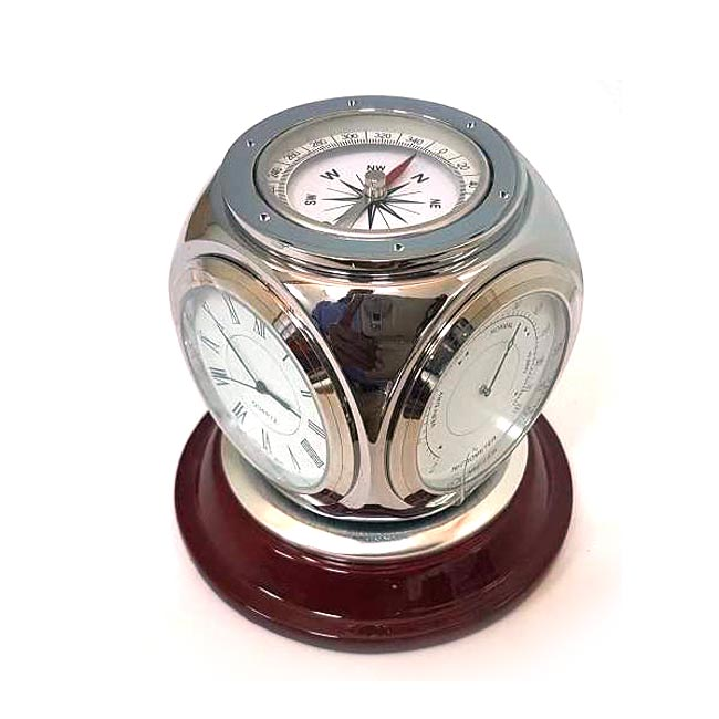 Rotating Metal Clock