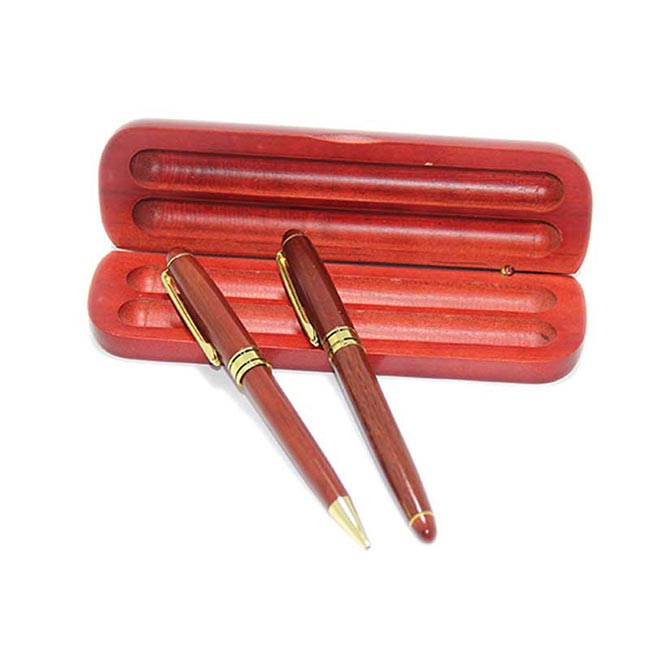 Wooden Pen & Case