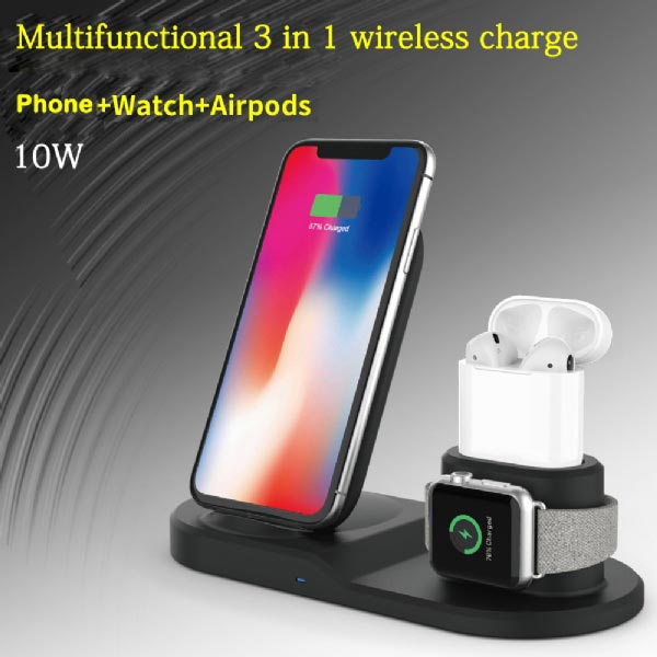 3in1 Wireless Fast Charger Stand