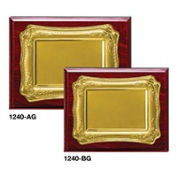 Wooden Plaques Gold Laserable Plate 1240