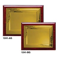 Wooden Plaques Gold Laserable Plate 1241
