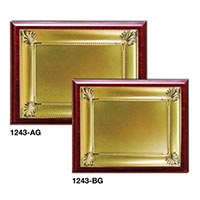 Wooden Plaques Gold Laserable Plate 1243