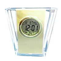 Analogue Clock in Pen Stand
