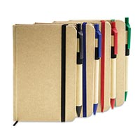 Eco-Neutral Notebook With Elastic & Pen