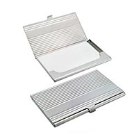 Metal Card Case With Chrome Finish
